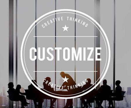 modificar: Customize Modify Create Adjust Concept