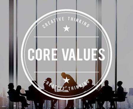 principles: Core Values Principles Purpose Goals Concept Stock Photo