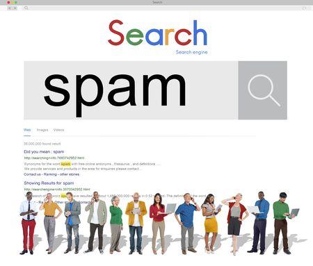 threat: Spam Virus Online Security Phishing Threat Concept