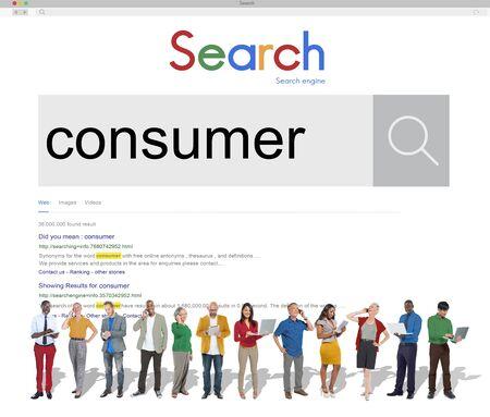 consumer: Consumer Buyer Marketing Business Concept