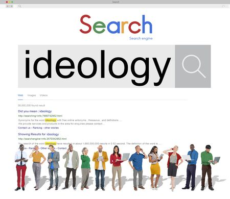 ideology: Ideology Iedals Philosophy Teaching Theory Concept Stock Photo