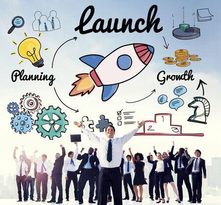 begin: Launch Start up New Business Begin Concept