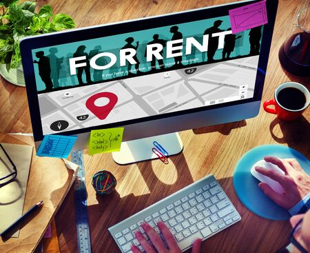 Renting: For Rent Rental Available Renting Borrow Property Concept