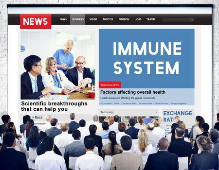 Immune System Healthcare Disease Antibody Concept Stock Photo
