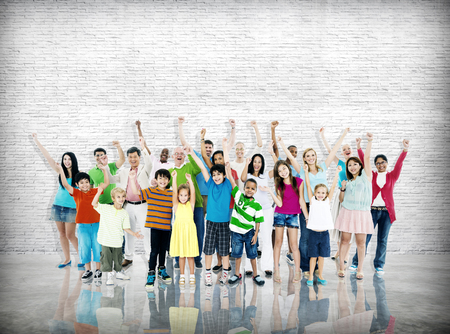 Groep mensen Gemeenschap viering geluk Concept