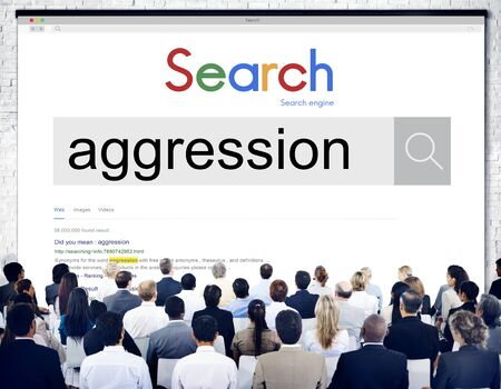aggression: Aggression Offensive Conflict Violence Concept Stock Photo