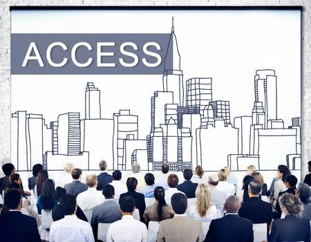 account executive: Access Control Entry Password Account Concept Stock Photo