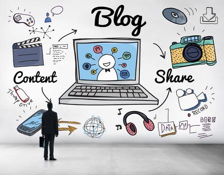 content: Blog Homepage Content Social Media Online Concept