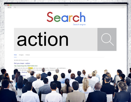 Audience with action internet search Stok Fotoğraf - 109217322