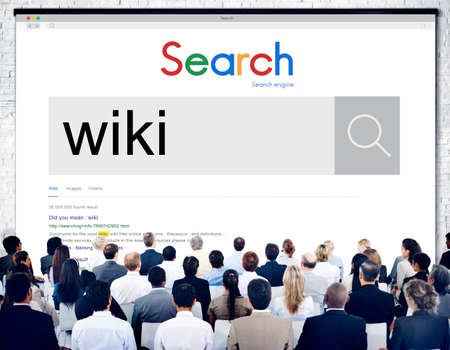 wiki: Wiki Knowledge Information Education Community Concept Stock Photo