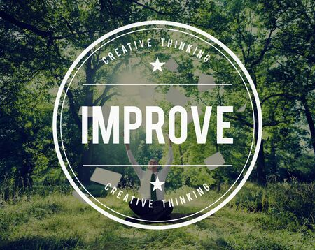 getting better: Improve Growth Improvement Innovation Update Concept