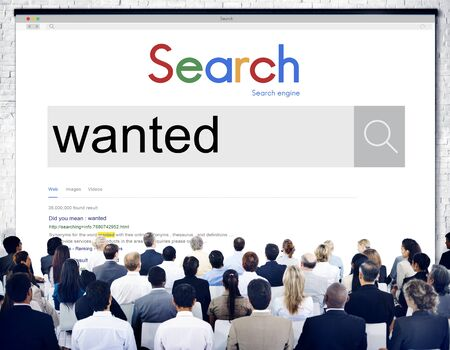 require: Wanted Want Needed Require Request Research Concept Stock Photo