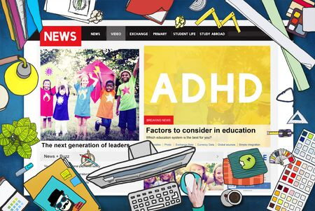 deficit: Attention Deficit Disorder Hyperactivity Concept Stock Photo