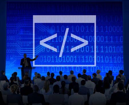 html: Code Programing Binary Html Information Computer Concept