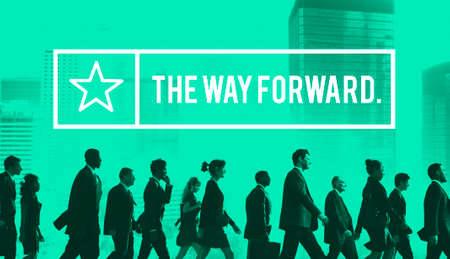 onward: The Way Forward Aim Ahead Vision Target Success Concept