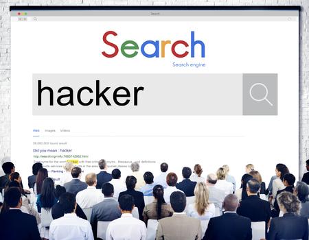 violation: Hacker malware spam Concepto Violación Sitio Web