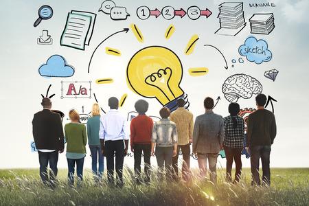 Ideen Lernstrategie Plan Teamwork-Konzept