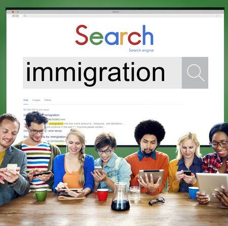 Immigrazione persone Dibersity asilo Concetto