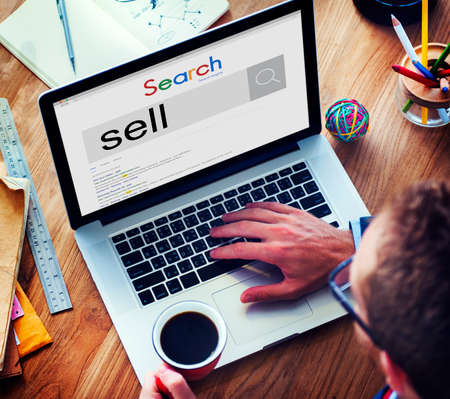 retailing: Sell Sale Merchandise Retailing Trade Marketing Concept