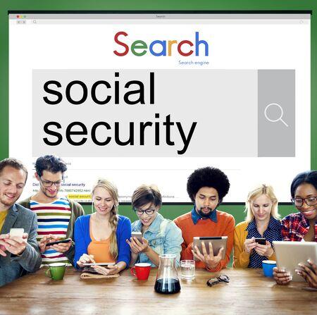 seguridad social: Seguridad Social de pensi�n de beneficios el concepto de retiro de Bienestar Foto de archivo