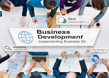 conept: Business Development Growth Success Improvement Conept Stock Photo
