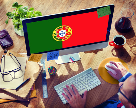 Portugal National Flag Government Freedom LIberty Concept Stock Photo