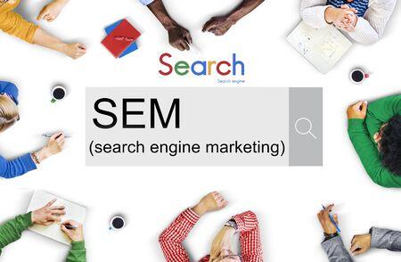sem: SEM Search Engine Marketing Business Strategy Concept