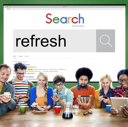 invigorate: Refresh Refreshment Refreshing Renew Rethink Concept Stock Photo