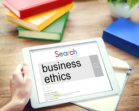 insider information: Business Ethics Moral Integrity Honesty Trust Concept Stock Photo