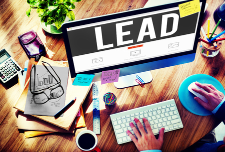 autoridad: Lead Leader Authority Boss Director Business Concept