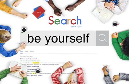 be yourself: Be Yourself Self Esteem Confidence Encourage Concept