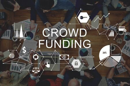 contribution: Crowd Funding Supporters Investment Fundraising Contribution Concept