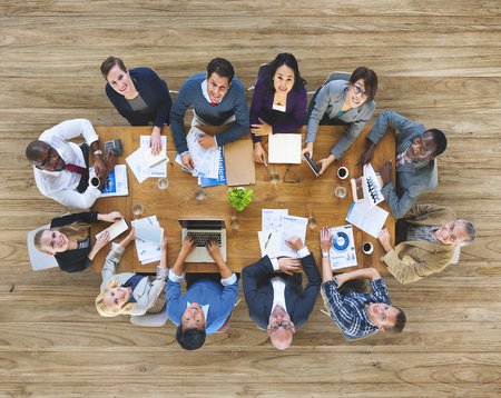 Group of Business People Working in the Office Concept Stock Photo