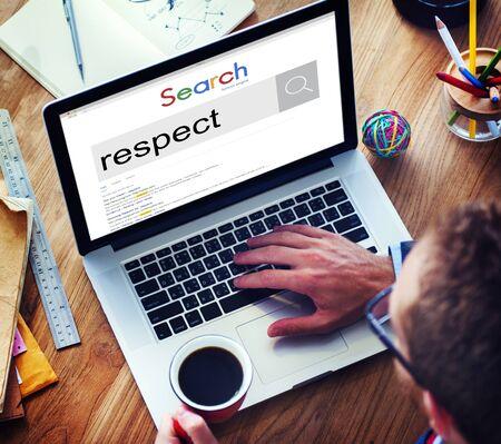 respect: Respect Regard Morality Loyalty Honesty Admire Concept Stock Photo