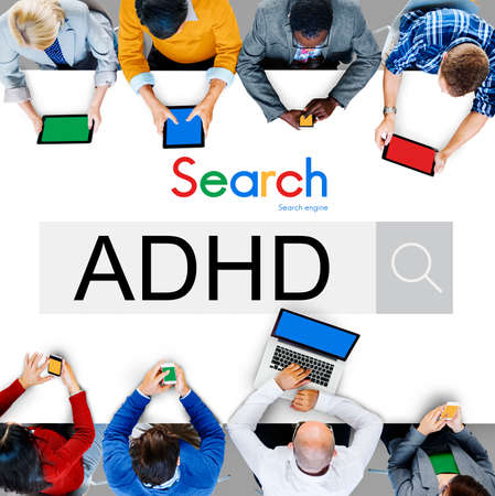 hyperactivity: Attention Deficit Disorder Hyperactivity Concept Stock Photo