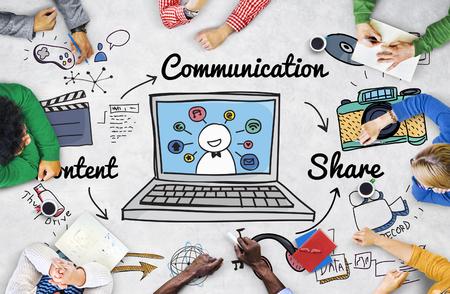 Kommunikation, Verbindung, Social Network-Konzept Standard-Bild