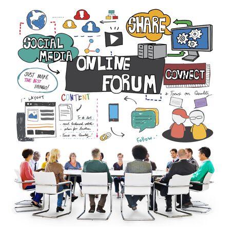 discussion forum: Online Forum DIscussion Communication Connection Concept