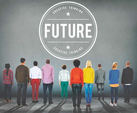 Future Futuristic Forcast imagine Time Vision Plan Concept