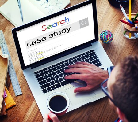 Case Study Learning Education Concept Stock Photo