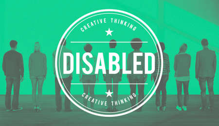 incapacitated: Disabled Disability Disorder Condition Handicap Concept