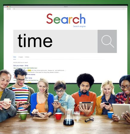 punctual: Gestión de tiempo puntual Duración Horario Concept Foto de archivo