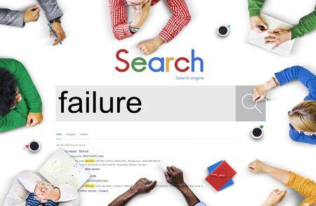 failed strategy: Fail Failed Failing Failure Fiasco Defeat Collapse Concept