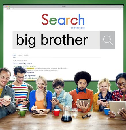 big brother: Big Brother Government Oppressive Overseeing Control Concept Stock Photo