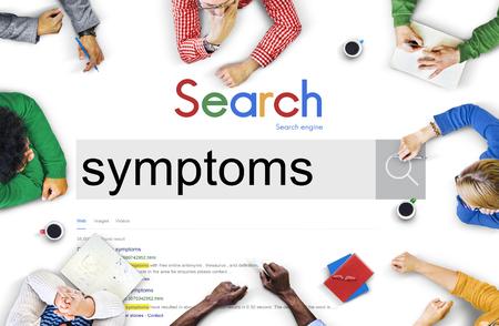 Symptoms Disease Illness Indication Sickness Diagnosis Concept