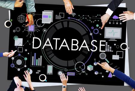 Database Informazioni I dati Business Concept Grafico
