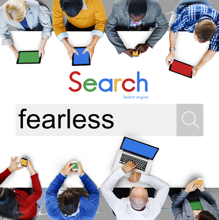 unafraid: Fearless Feisty Gutsy Proactive Strength Strong Concept Stock Photo