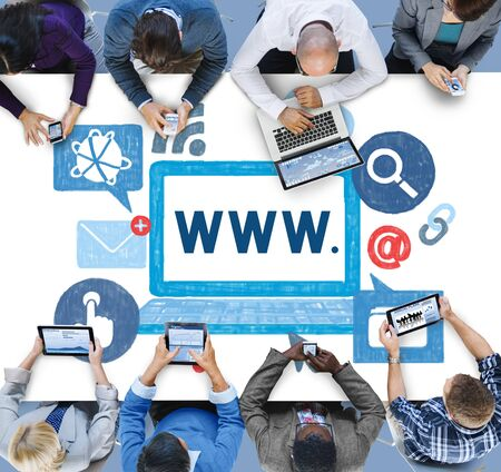 wide: World Wide Web Internet Online Illustration Concept