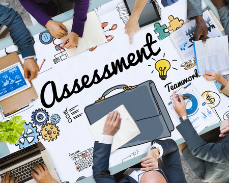 Business planning with assessment concept
