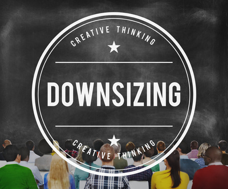 downsize: Downsizing Employee Human Layoff Loss Cutting Concept