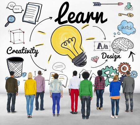 man rear view: Learn Learning Education Knowledge Wisdom Studying Concept